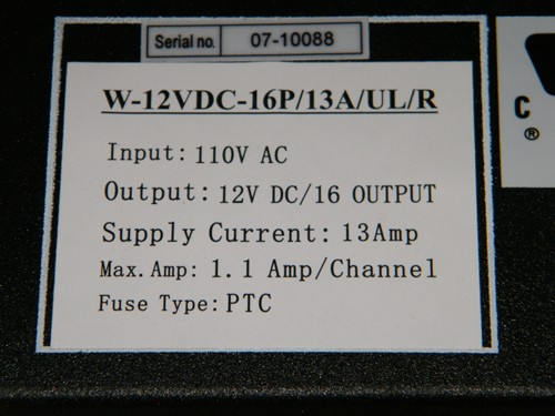 16 Channels 12v Dc Regulated Distributed Power Supply Rack